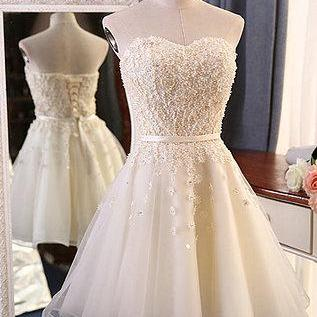 Sweetheart Creamy Tulle Homecoming ..