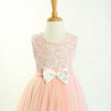 ad9726b146e49 So Lovely Lace And Tulle Flower Girl Dress For Wedding,little Kid ...