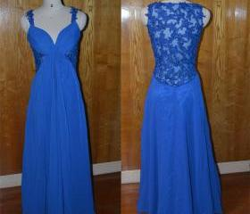 royal blue lace shee..