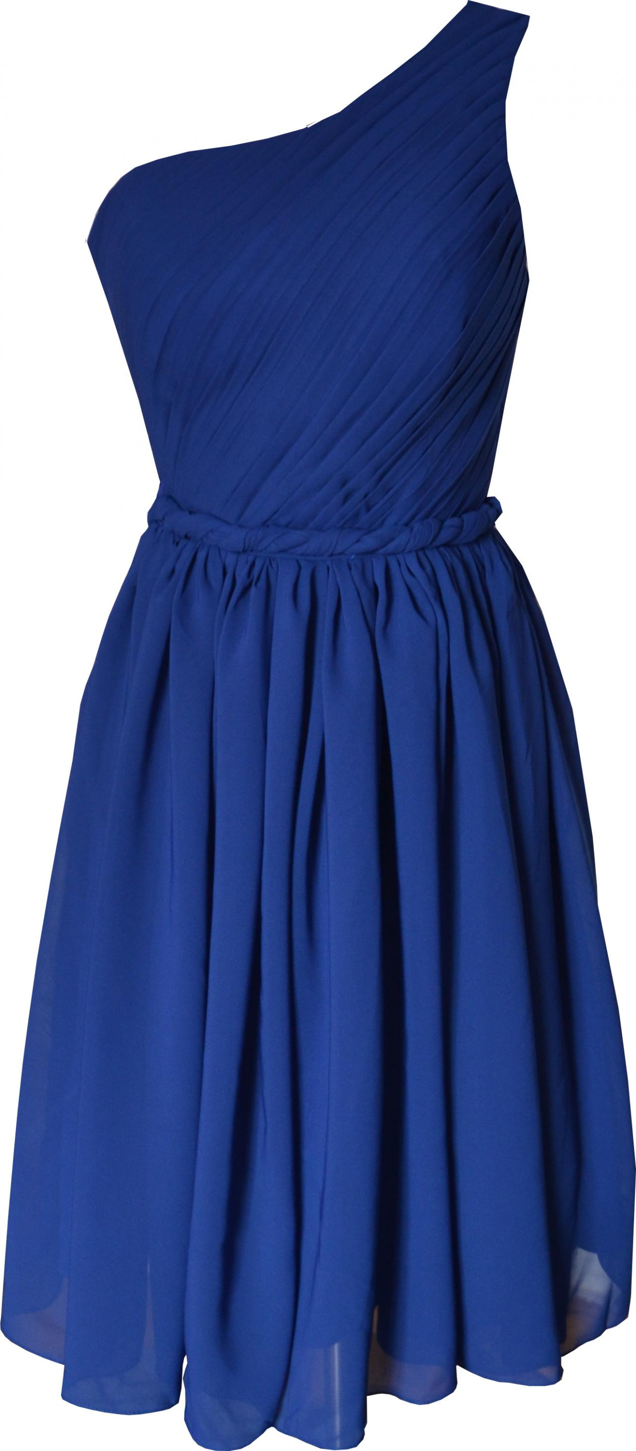 One Shoulder Royal Blue Simple Elegant Knee Length Short Prom Dress Party Bridesmaid Dress