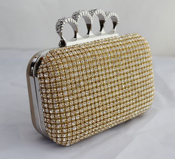 Silver Gold Black Crystal Diamante Effect Evening Clutch Wedding Party Prom  Bag Box Fashion Bag New a448b5f4860ad