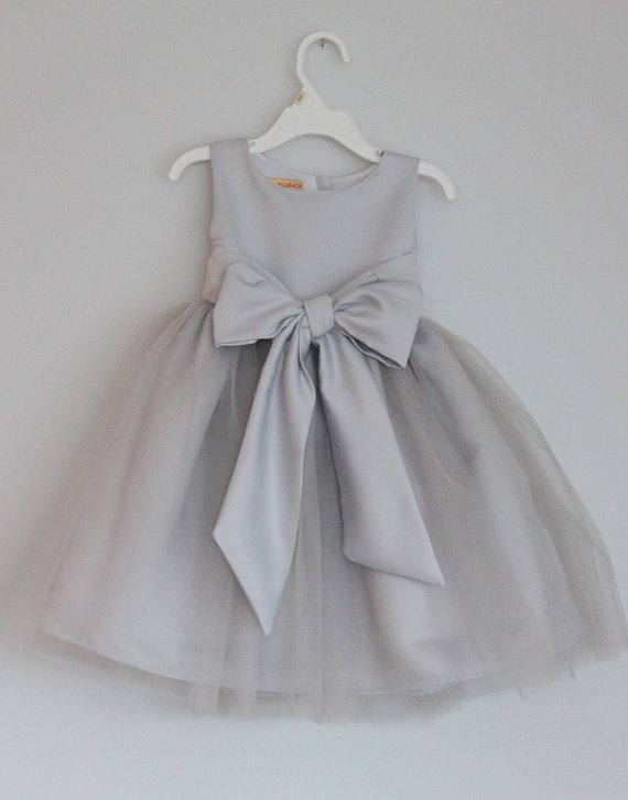 Grey flower girl dress with sashsleeveless flower girl dress on luulla grey flower girl dress with sashsleeveless flower girl dress mightylinksfo