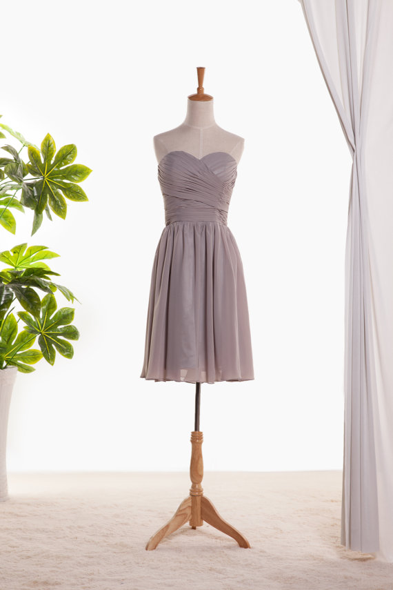 Chiffon Short Prom Dress ,evening Short Dress.bridesmaid dress short