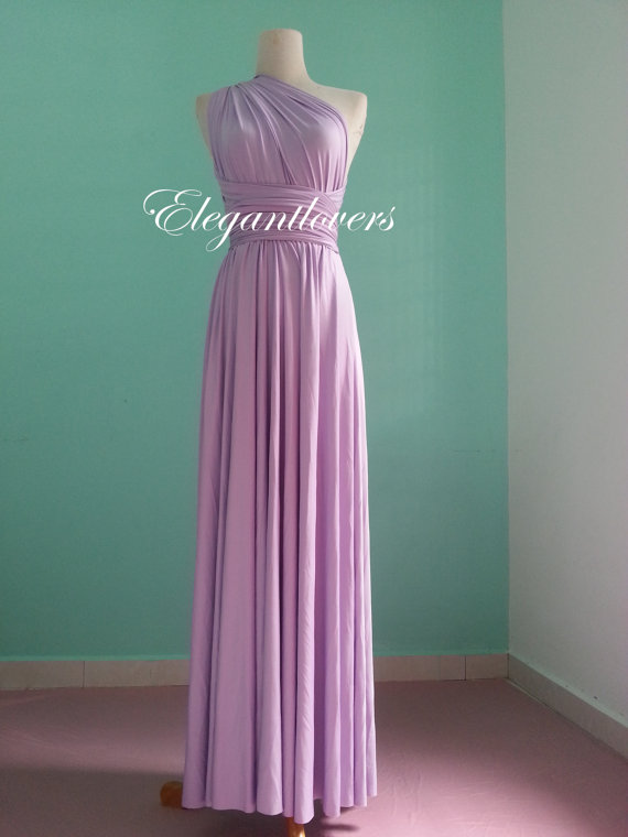 Lavender Wedding Dress Bridesmaid Dress Infinity Dress Wrap Dress