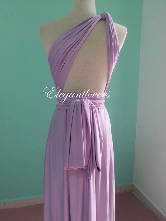 Lavender Wedding Dress Bridesmaid Dress Infinity Dress Wrap Dress ...