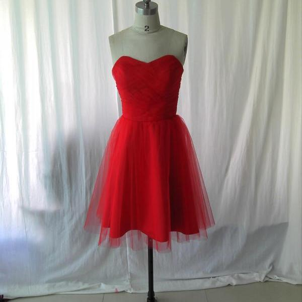 Red CocktaiL Dress,short cocktail dress,tulle cocktail dress,cheap cocktail dress,simple cocktail dress.cocktail party dress