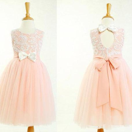 a832f7ec2c ... So lovely lace and tulle flower girl dress for wedding